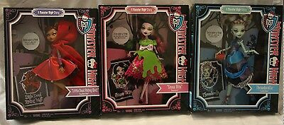Monster High Scary Tales set of 3 BNIB - RARE