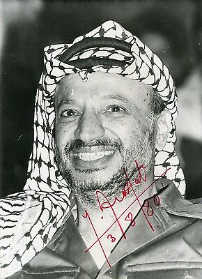 Yasser Arafat (+) PALESTINIAN autograph, signed photo