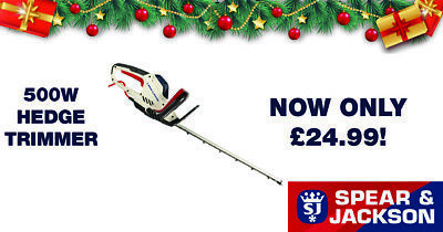 BIG SALES RRP £49.99 Spear & Jackson 500W 51cm Hedge Trimmer