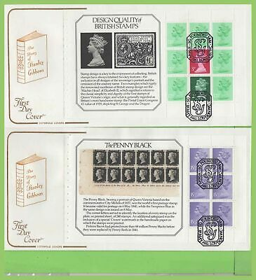G.B. 1982 S. Gibbon booklet pane set on Cotswold First Day Covers (4), London WC