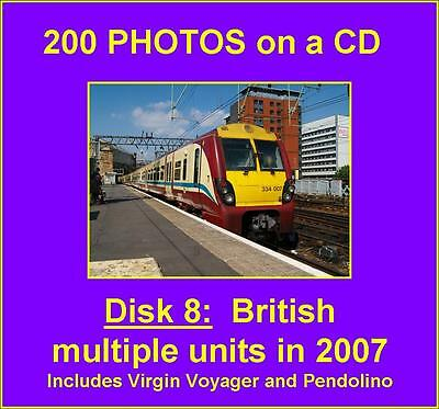 200 Multiple unit photos on CD around the UK in 2007