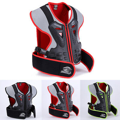 Super Kids Body Armour Motorcycle Motocross Spine Protector Guard Jacket H215