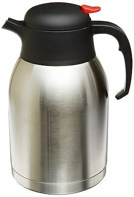 Genuine Joe Carafe Stainless Steel Durable Double Wall Vacuum Insulated Carafe