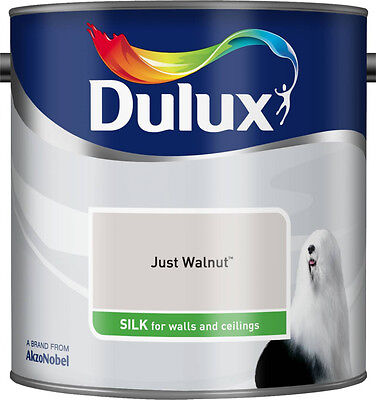 Dulux Smooth Emulsion Silk Paint - Just Walnut - 2.5L - Walls and Ceiling