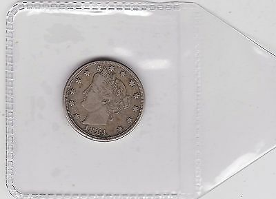 Usa 1884 Five Cent In Good Fine Or Slightly Better Condition