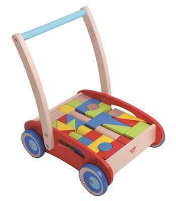 Baby Walker Wooden Toy Block Activity Puzzle