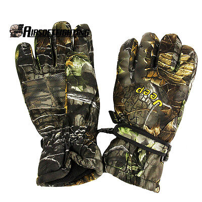 Hunting Outdoor Winter Full Finger Waterproof Skipproof Camouflage Glove Jeep