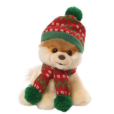 Christmas Gund Boo The Worlds Cutest Dog Plush Soft Toy With Hat & Scarf Gift