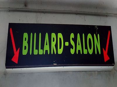 "Grosses Neon Reklameschild "" BILLARD-SALON 70er Jahre Kultiges Design!"