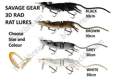 Savage Gear 3D Rad Rat Surface Fishing Lure Pike Bass Zander Hooks Predator Cat