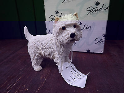 2002 Border Fine Arts Westie Dog Standing from Dogs & Pups Galore Series Boxed
