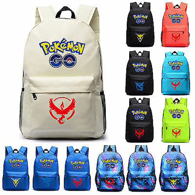 New Galaxy Backpack Rucksack Laptop Bag of Pokemon Go Travel School Bag