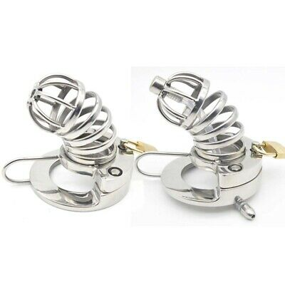The latest design stainless steel Chastity Cage Device with Tube SoundingCD113-2