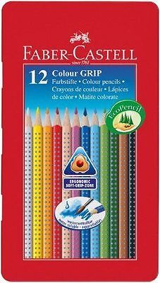 Faber-Castell Tin of 12 Colour GRIP 2001 Pencils (NEW/SEALED)