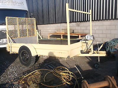 Single Axle Plant Trailer, 10X6 With Full Loading Ramp