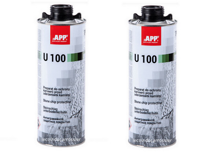 Lot de 2 Blackson anti-gravillon noir U100, 1000ml, auto, carrosserie