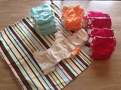 lot 13 couches lavables TE1 taille S lulu nature + sac à couches