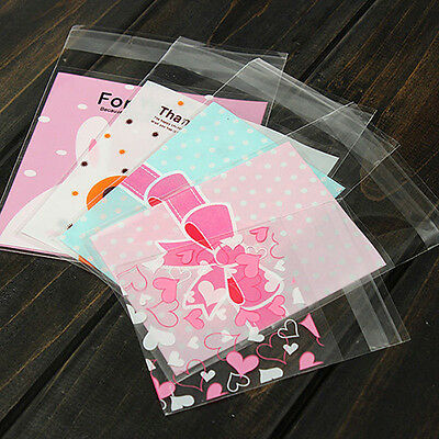100 Pcs Self Adhesive Cookie Package Gift Bags Party Birthday Candy Bag Stunning