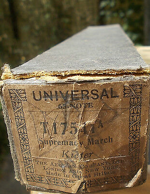 Vintage Pianola roll - SUPREMACY MARCH.  Kiefer. Universal  Ref. T17541A