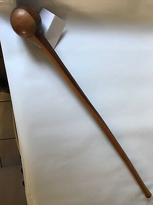 Zulu African Knobkerrie Fine Example. Rare 50/50 Light wood Large 31 Inch