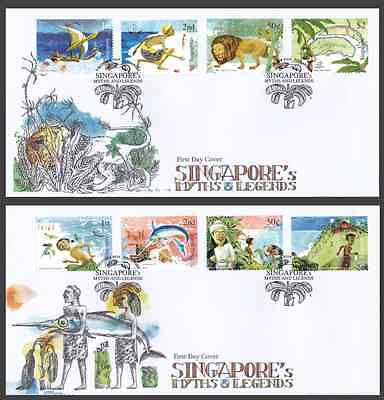 SINGAPORE - 2014 - FDC: Myths and Legends. 8v