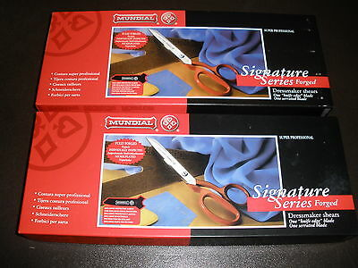 2x 'NEW' Right-Handed Mundial Signature Series Dressmaker Shears Tailor Scissors
