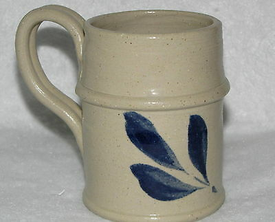 Williamsburg Pottery Factory Pottery MUG Cup Small with Blue Design