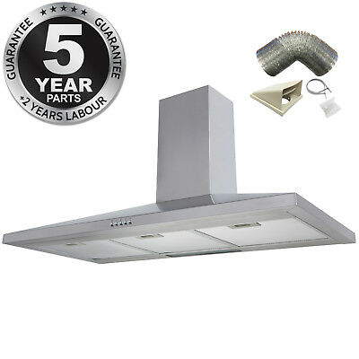 SIA CH91SS 90cm Stainless Steel Chimney Cooker Hood Extractor + 3m Ducting