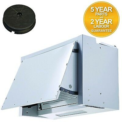 SIA INT60SI 60cm Integrated Cooker Hood Extractor Fan + Charcoal Filter