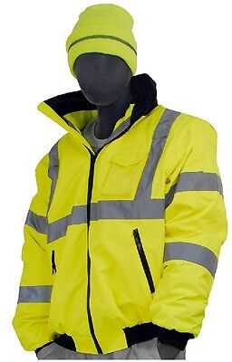 Majestic Glove 75-1300 PU Coated Polyester High Visibility Bomber Jacket ... New