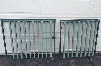 Double Drive Way - Steel Gates. Metal Frame Solid 930 x 950 - 1150 x 950 mm (H)