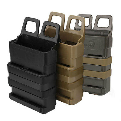 Tactical Fast Mag Attach Belt Magazine Pouch 5.56 Molle Holster FMA Hunting