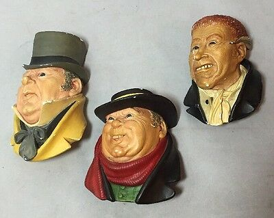 Vintage Bossons From Dickens Series 1960s Mr Micawber Tony Weller Uriah Heep