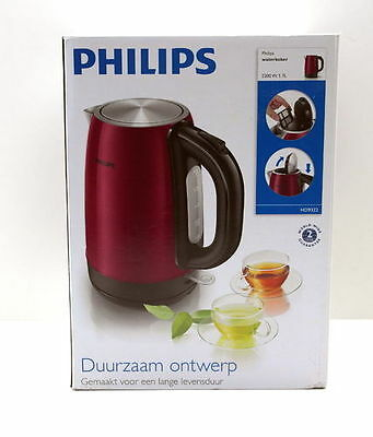 Philips HD9322/33 Wasserkocher 2.200 W, 1,7 L, burgunderrot