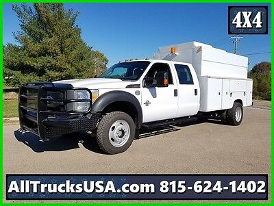 2012 FORD F550 4X4 CREW CAB, 6.7L DIESEL, ENCLOSED SERVICE UTILITY TRUCK, 122k