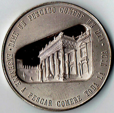 Official Mexico City Mint 1980 Mo 42mm 100th Anniversary O R T Silver medal