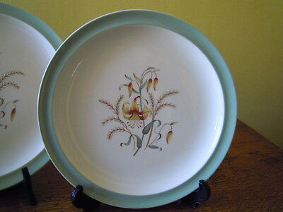 Pair Wedgwood Tiger Lily Dinner Plates