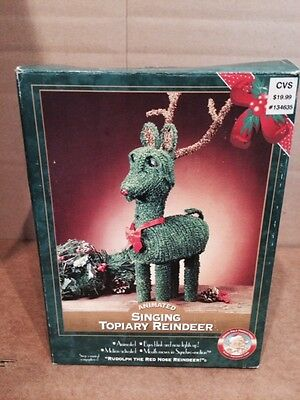 North Pole Productions Animated Singing Topiary Reindeer