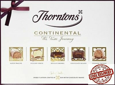 Thorntons Continental  Gift Selection 142g Chocolate Milk White Dark