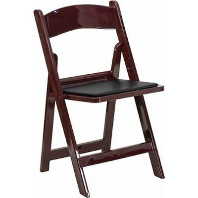 4 Chairs Folding Mahogany Resin Christmas Elegance Dinner Chair, Holiday Party