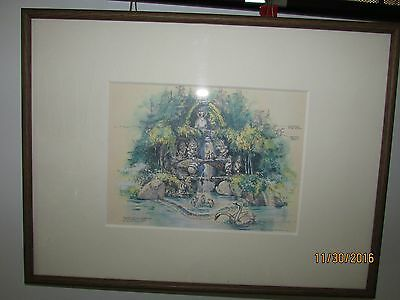 The Disney Gallery- Snow White Grotto by John Hench From Tokyo Disneyland