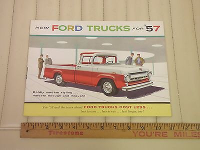 1957 Ford Truck Full Line Catalog Sales Brochure w/ Ranchero