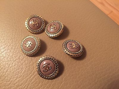 Chanel Cc Logo Tan Gold One Button
