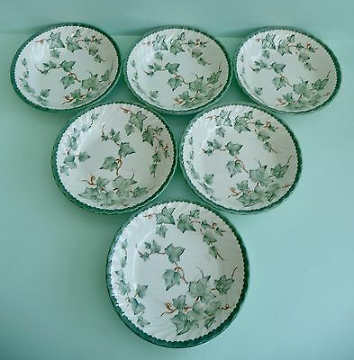 Set Of 6 Bhs 'Country Vine' Soup/cereal Bowls - Fab Condition