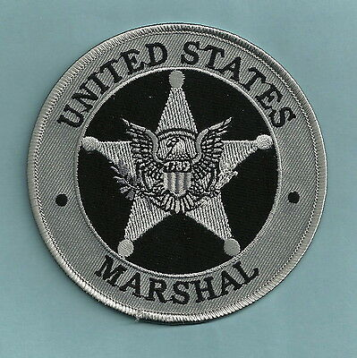 """United States Marshal Police 4"""" Shoulder Patch Gray"""