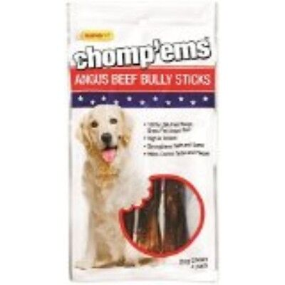 Rhode Island 75297 RuffinIt ChompEms Dog Chews Bully Stick 4 Count