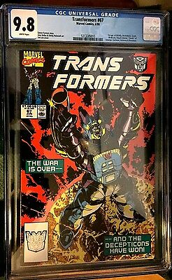 Transformers (1984) # 67 White Pages Graded Cgc 9.8 Nm/mt (1213285010)