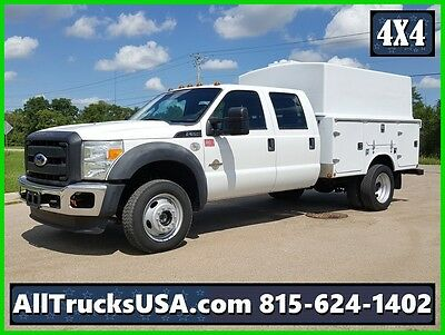 2011 FORD F550 4X4 CREW CAB 6.7L DIESEL ENCLOSED SERVICE UTILITY TRUCK 151k