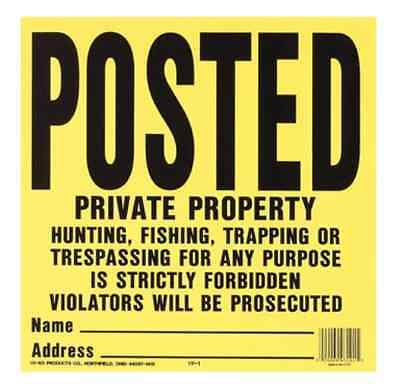 Posted Private Property Property Sign PACK OF 20