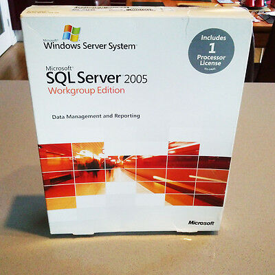 Microsoft SQL Server 2005 Workgroup Edition inc CPU Processor License A5K-01020